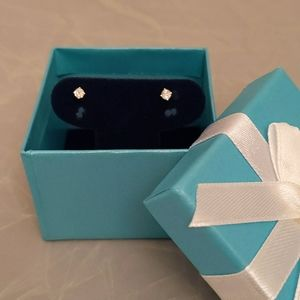 Brand new genuine diamond earrings